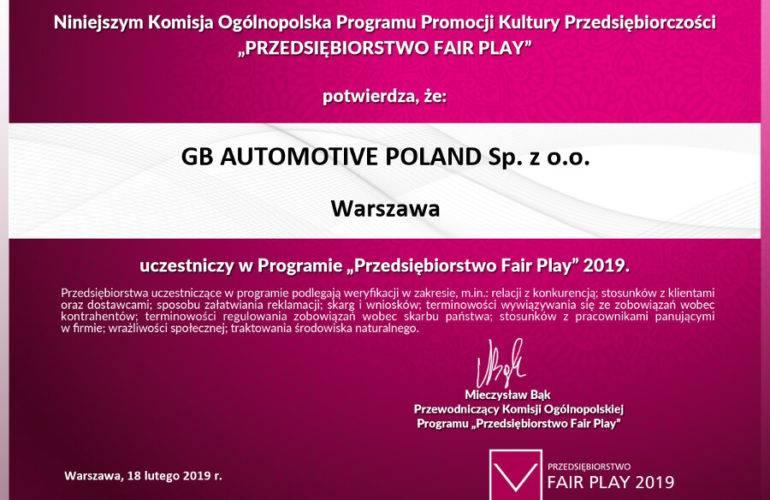 Przedsiębiorstwo Fair Play 2019